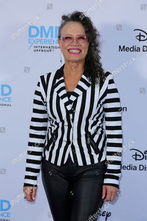 Rena Owen arrives at the Disney's International Upfront Red Carpet at Disney Studios, in Burbank, Calif