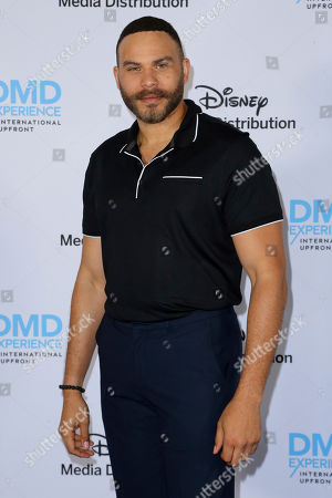 Ian Verdun arrives at the Disney's International Upfront Red Carpet at Disney Studios, in Burbank, Calif