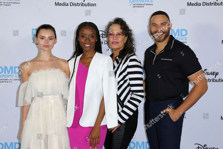 Eline Powell, Sibongile Mlambo, Rena Owen, Ian Verdun. Eline Powell, from left, Sibongile Mlambo, Rena Owen and Ian Verdun arrive at the Disney's International Upfront Red Carpet at Disney Studios, in Burbank, Calif