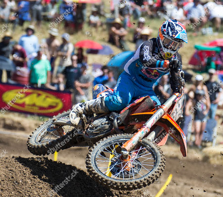 Rancho Cordova, CA : # 26 Alex Martin get air coming out of turn 20 during the Lucas Oil Pro Motocross Championship 250cc class championship at Hangtown Motocross Classic Rancho Cordova, CA Thurman James / CSM