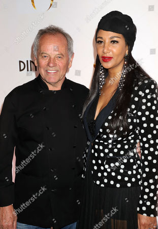Stock Picture of Wolfgang Puck, Gelila Assefa