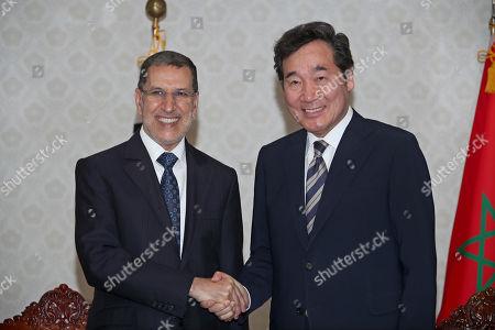 Lee Nak-yon and Saadeddine Othmani