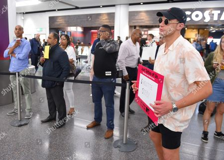 Scotty T at Gatwick Airport ahead of the launch of 'Just Tattoo Of Us' Series 3