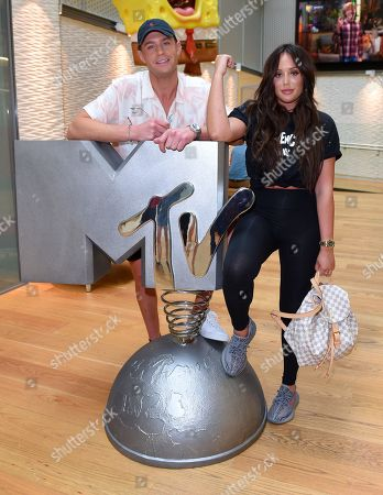 Scotty T and Charlotte Crosby at the MTV HQ in London ahead of the launch of 'Just Tattoo Of Us' Series 3
