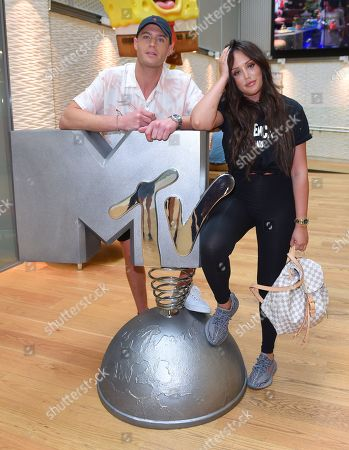 Stock Photo of Scotty T and Charlotte Crosby at the MTV HQ in London ahead of the launch of 'Just Tattoo Of Us' Series 3