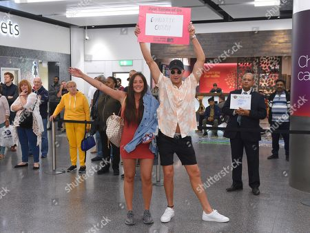 Scotty T meets Charlotte Crosby at Gatwick Airport ahead of the launch of 'Just Tattoo Of Us' Series 3
