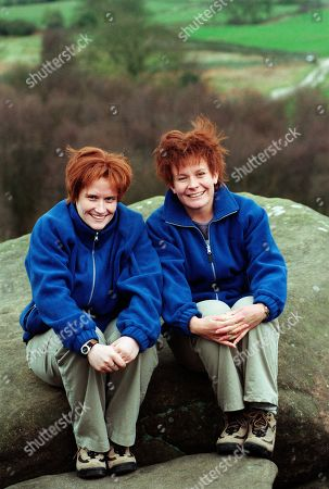 Ep 2521 Tuesday 11th May 1999 Behind the scenes location filming from the episode in which Graham pushes Rachel off a cliff - With Rachel Hughes, as played by Glenda McKay and her stunt double.
