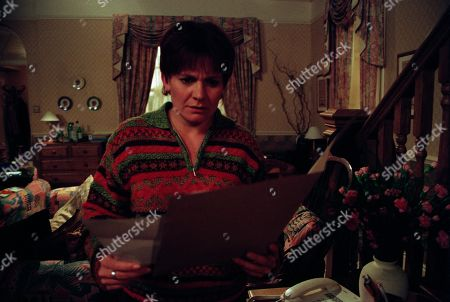 Ep 2520 Thursday 6th May 1999 Rachel discovers the truth that Graham's been applying for new jobs away from the village. At home her suspicions are confirmed when she discovers a pile of application forms hidden in a drawer - With Rachel Hughes, as played by Glenda McKay.