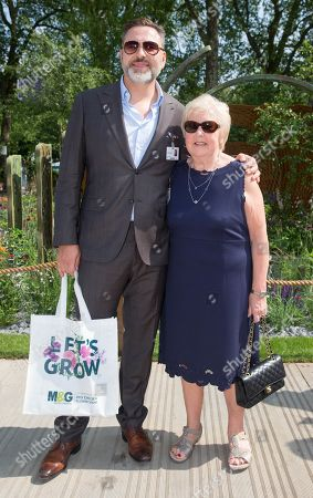 David Walliams with his mother, Kathleen Williams