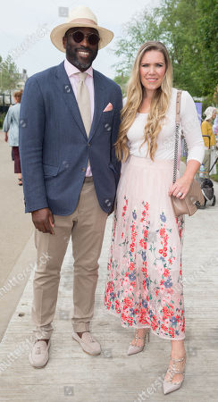 Footballer Sol Campbell with his wife Fiona Barratt-Campbell