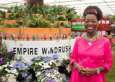 Baroness Floella Benjamin at the Windrush Garden by Birmingham City Council