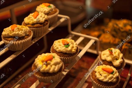 Carrot top cup cakes