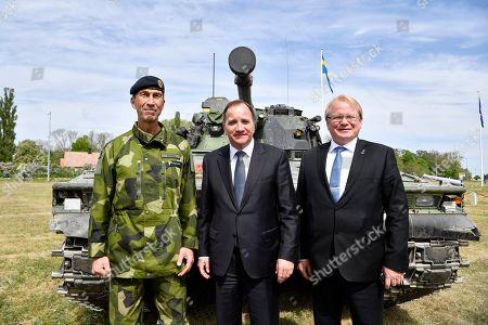 Military Commander Micael Byden, Prime Minister Stefan Lofven, Defense Minister Peter Hultqvist