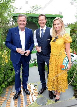 Piers Morgan, Brendan Cole and Zoe Hobbs
