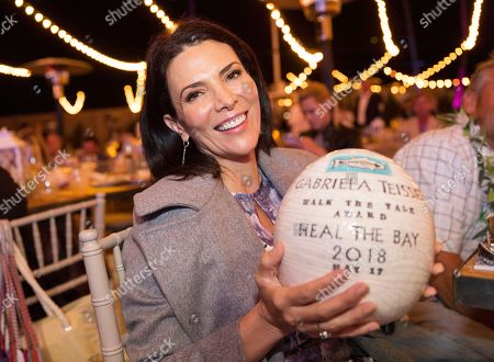 Gabriela Teissier attends the 2018 Heal the Bay Bring Back the Beach Annual Awards Gala, celebrating the accomplishments of honorees Los Angeles Mayor Eric Garcetti, Univision news anchor Gabriela Teissier and sustainability advocates Zooey Deschanel and Jacob Pechenik at The Jonathan Club on Thursday, May 17, in Santa Monica, CA