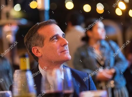 Stock Image of Eric Garcetti attends the 2018 Heal the Bay Bring Back the Beach Annual Awards Gala, celebrating the accomplishments of honorees Los Angeles Mayor Eric Garcetti, Univision news anchor Gabriela Teissier and sustainability advocates Zooey Deschanel and Jacob Pechenik at The Jonathan Club on Thursday, May 17, in Santa Monica, CA