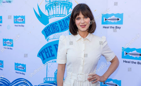 Zooey Deschanel arrives at the 2018 Heal the Bay Bring Back the Beach Gala, celebrating the accomplishments of honorees Los Angeles Mayor Eric Garcetti, Univision news anchor Gabriela Teissier and sustainability advocates Zooey Deschanel and Jacob Pechenik at The Jonathan Club on Thursday, May 17, in Santa Monica, CA