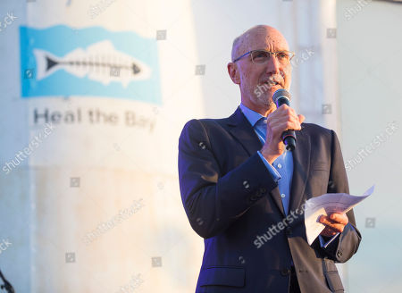 Craig Perkins speaks at the 2018 Heal the Bay Bring Back the Beach Gala, celebrating the accomplishments of honorees Los Angeles Mayor Eric Garcetti, Univision news anchor Gabriela Teissier and sustainability advocates Zooey Deschanel and Jacob Pechenik at The Jonathan Club on Thursday, May 17, in Santa Monica, CA