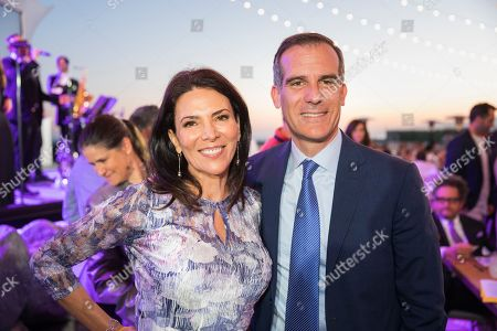 Gabriela Teissier, Eric Garcetti. Gabriela Teissier and Eric Garcetti attend the 2018 Heal the Bay Bring Back the Beach Gala, celebrating the accomplishments of honorees Los Angeles Mayor Eric Garcetti, Univision news anchor Gabriela Teissier and sustainability advocates Zooey Deschanel and Jacob Pechenik at The Jonathan Club on Thursday, May 17, in Santa Monica, CA