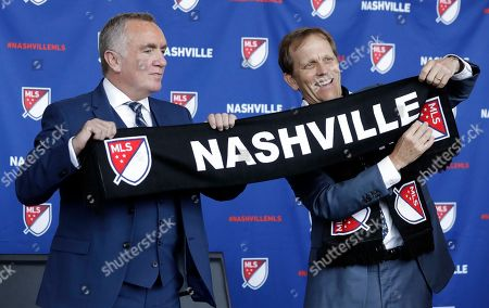Ian Ayre, John Ingram. Ian Ayre, left, is introduced by John Ingram, right, the lead owner the Nashville, Tenn., MLS franchise, as the first chief executive officer of the team, in Nashville. Ayre is a former CEO of the Liverpool Football Club of the English Premier League