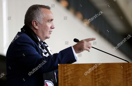 Ian Ayre speaks at a news conference after being introduced as the first chief executive officer of the Nashville MLS franchise, in Nashville, Tenn. Ayre is a former CEO of Liverpool Football Club of the English Premier League