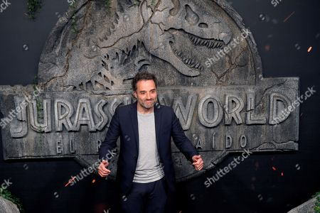 Stock Image of Spanish actor Daniel Guzman poses as he arrives to the world premiere of the film 'Jurassic World: Fallen Kingdom' in Madrid, Spain, 21 May 2018.