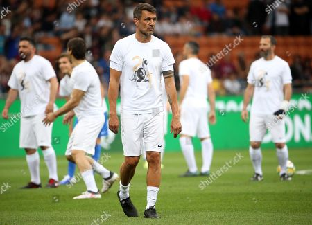 Paolo Maldini during the event 'La Notte del Maestro', the Italian soccer legend Andrea Pirlo's farewell match, at Giuseppe Meazza stadium in Milan, Italy, 21 May 2018.