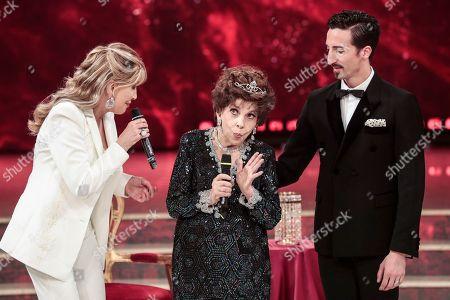Tv presenter Milly Carlucci, Gina Lollobrigida, teacher Samuel Peron,