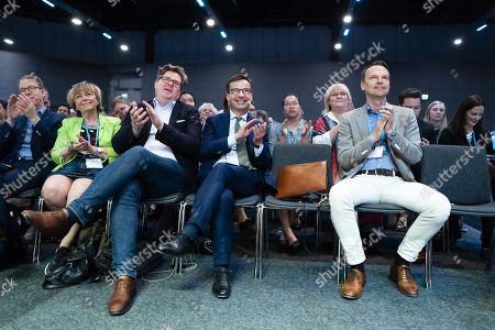 Tobias Billström, Vice Deputy Speaker, Beatrice Ask, Gunnar Strömmer, Party Secretary, and Ulf Kristersson, Politician (M) Sweden Party Leader