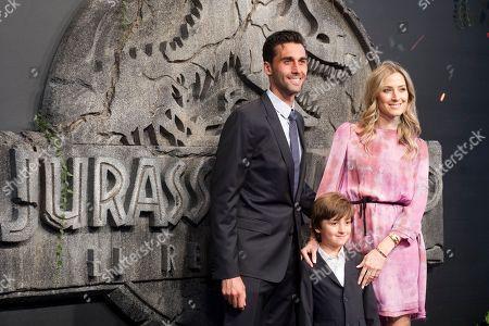 Alvaro Arbeloa Coca his wife Carlota Ruiz and their son Raul Arbeloa