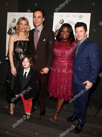 "Stock Photo of Claire Danes, Leo James Davis, Jim Parsons, Octavia Spencer, Silas Howard. Claire Danes, from left, Leo James Davis, Jim Parsons, Octavia Spencer and Silas Howard attend the premiere of IFC Film's ""A Kid Like Jake"" at the Landmark at 57 West, in New York"