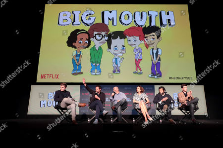 Ben Travers, Moderator, Nick Kroll, Andrew Goldberg, Executive Producer, Jessi Klein, Jason Mantzoukas, John Mulaney