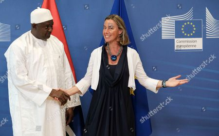 Adama Barrow and Federica Mogherini