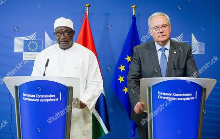 Adama Barrow and Neven Mimica