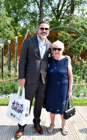 David Walliams with his mum Kathleen Williams