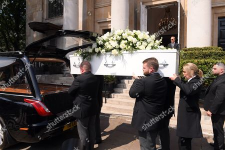 The coffin of Dale Winton