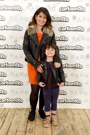 Shappi Khorsandi with her daughter