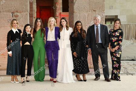 Sarah Paulson, Awkwafina, Sandra Bullock, Cate Blanchett, Anne Hathaway, Mindy Kaling, Gary Ross (Director), Olivia Milch (Producer)