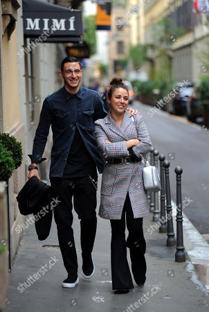 Stock Image of Matteo Darmian and wife Francesca Cormanni