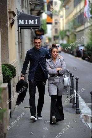 Matteo Darmian and wife Francesca Cormanni