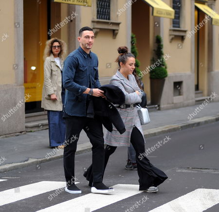 Stock Picture of Matteo Darmian and wife Francesca Cormanni