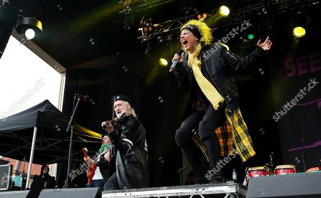 Editorial image of Gogol Bordello in concert at Grona Lund, Stockholm, Sweden - 17 May 2018