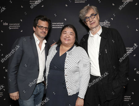 Ben Mankiewicz, IDA's Claire Aguilar and Wim Wenders