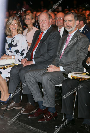 President of COTEC Foundation Cristina Garmendia, King Juan Carlos and King Felipe VI of Spain
