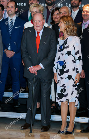 Stock Picture of King Juan Carlos and President of COTEC Foundation Cristina Garmendia