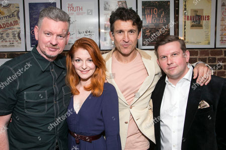 Stock Photo of John Gordon Sinclair (Rick), Laura Pitt-Pulford (Melanie), Jonathan Cake (Frank) and Greg McHugh (Carl)