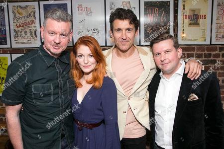 John Gordon Sinclair (Rick), Laura Pitt-Pulford (Melanie), Jonathan Cake (Frank) and Greg McHugh (Carl)