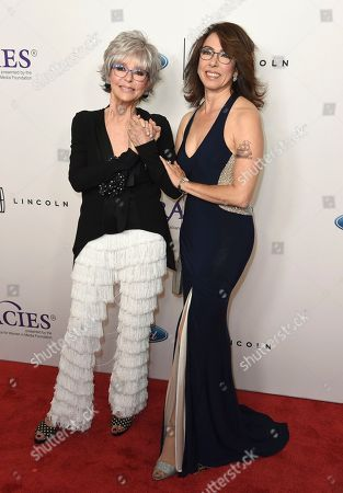 Rita Moreno, Fernanda Luisa Gordon. Rita Moreno, left, and her daughter Fernanda Luisa Gordon arrive at the 43rd annual Gracie Awards at the Beverly Wilshire Hotel, in Beverly Hills, Calif