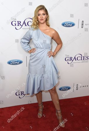 Lexi DiBenedetto arrives at the 43rd annual Gracie Awards at the Beverly Wilshire Hotel, in Beverly Hills, Calif