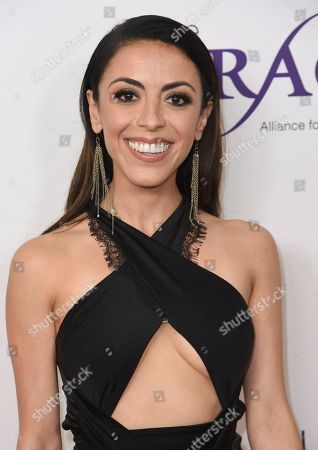 Grace Parra arrives at the 43rd annual Gracie Awards at the Beverly Wilshire Hotel, in Beverly Hills, Calif